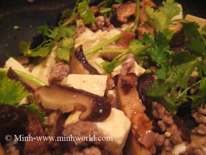 mushroom with tofu